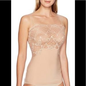 Wacoal NWT Lace Impressions Sheer Lace Cam Nude